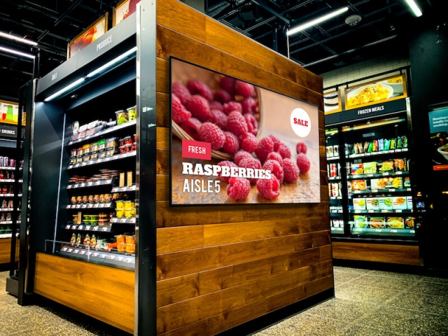 grocery store digital signage